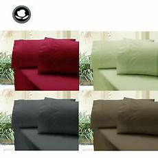 310tc cotton fitted sheet pcase s no flat single king single double queen king ebay