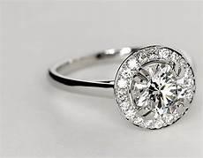 halo engagement ring with plain wedding band plain shank halo engagement ring in platinum blue nile
