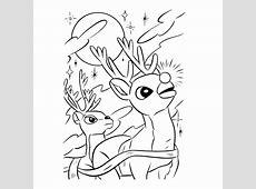 Rudolf het rendier met de rode neus kleurplaten