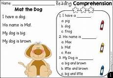 free kindergarten reading comprehension by teaching biilfizzcend