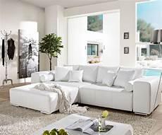 sofa weiss big sofa marbeya 290x110 cm weiss mit schlaffunktion m 246 bel