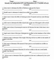 independent and dependent variable worksheet usbiologyteaching com