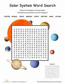 earth science solar system worksheets 13375 blast the solar system printable workbook education