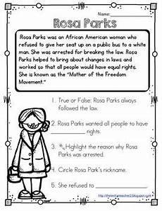 rosa parks reading passage rosa parks reading passages