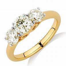 engagement ring with 1 63 carat tw of diamonds in 14ct yellow gold