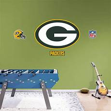 green bay packers wall stickers green bay packers logo wall decal shop fathead 174 for