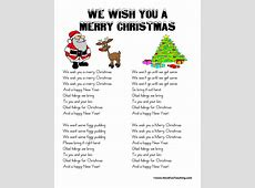 we wish you merry christmas lyrics printable