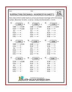division worksheets salamander 6357 math worksheets decimals subtraction math subtraction worksheets math helper