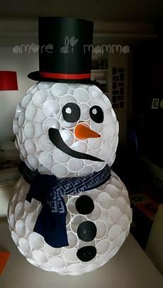 come fare un pupazzo di neve con bicchieri di plastica pupazzo di neve con bicchieri di plastica di mamma