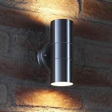 auraglow up down outdoor wall light winchester stainless steel safield distribution