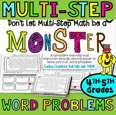 multi step word problems 4th grade 5th grade math worksheets tpt