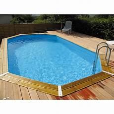 entourage maison pas cher piscine ocea 400 x 610cm h130cm entourage bois ubbink