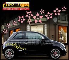 adesivi fiori per auto kit adesivi auto fiori mod 4 32pezzi smart fiat 500