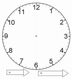 template for clock with moveable hour and minute