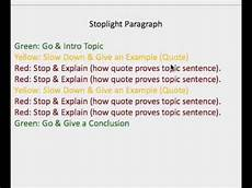 ms d s stoplight paragraph form youtube