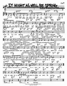 it might as well be spring sheet music rodgers hammerstein real book melody lyrics chords