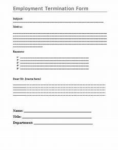 printable employment termination form free word s templates
