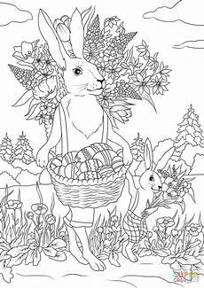 rabbit with his rabbit are carrying festive