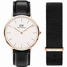 daniel wellington homme noir coffret montre daniel wellington dw00500002 coffret