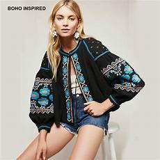 boho inspired bomber jacket floral emboridey sleeves