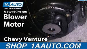How To Replace Blower Motor 97 05 Chevy Venture  YouTube