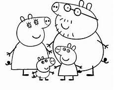 Ausmalbilder Peppa Wutz Familie Peppa Pig 5 Disegni Per Bambini Da Colorare