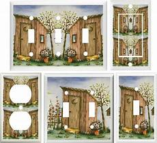 outhouse bathroom ideas outhouse birdhouse flowers bath decor switch or outlet cover v070 ebay