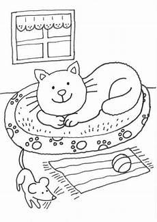 Malvorlagen Katzen Quiz Kostenlose Malvorlage Katzen Katze Im K 246 Rbchen Ausmalen