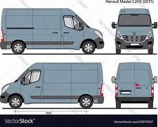 renault master l2h2 cargo 2011 royalty free vector image