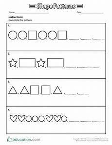 patterns shapes worksheets 241 patterns worksheets free printables education