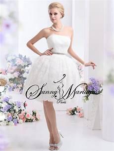 robe de mariee bustier courte dentelle mariage