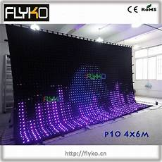 free shipping flexible led stage video curtain wall screen