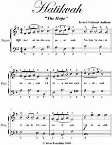 hatikvah easy piano sheet music read book online