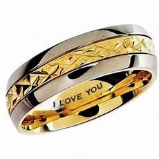 mens gold ip titanium wedding engagement comfort band ring