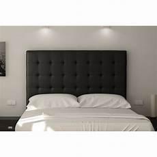 tete de lit noir sogno t 234 te de lit capitonn 233 e simili noir l 160 cm