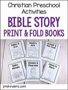 bible story print fold books for pre k preschool kids prekinders