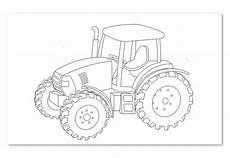 malvorlage kleiner roter traktor malvor