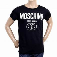 shop for mens crew neck black t shirt from moschino
