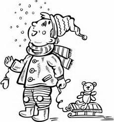 Malvorlagen Winter Jung Ausmalbild Junge Sieht Den Schnee Ausmalbilder