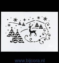 stencil winterlandschap kerst bij cora