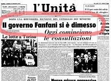 decisioni consiglio dei ministri di oggi 1958 1963 iii governo fanfani