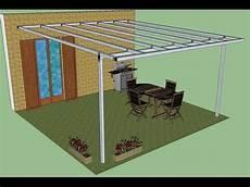 come costruire una tettoia in ferro pergola in ferro addossata montaggio fotografico