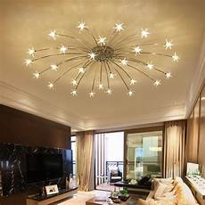 Light Filled Contemporary Living creative chandelier ceiling bedroom living room modern