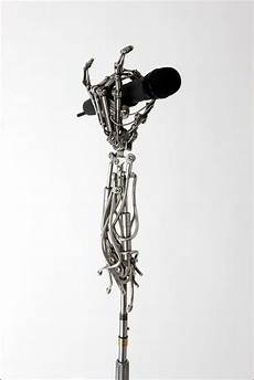 custom mic stands the sculpture of christopher conte