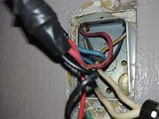 red blue white wires in light switch