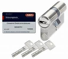 Schließzylinder Gleichschließend Kaufen - abus bravus 2000 schlie 223 zylinder gs mit 3 wendeschl 252 ssel
