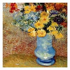 Vase Avec Bouquets De Fleurs Print By Vincent Gogh At