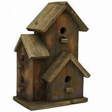 Nichoir Oiseaux Maison D Oiseau Gris Bois 16 Cm X