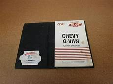 book repair manual 1993 chevrolet g series g30 electronic throttle control 1990 chevrolet g van g10 g20 g30 owners manual original book literature ebay