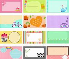 colorful name card template free name label cliparts free clip free